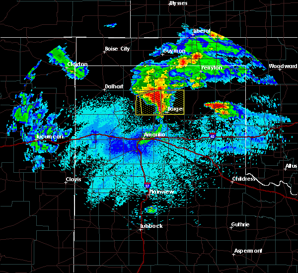 Radar Image for Severe Thunderstorms near Fritch, TX at 4/22/2020 3:34 AM CDT