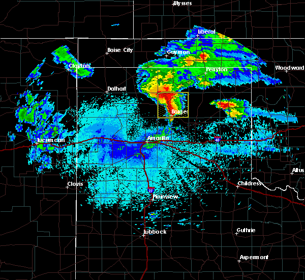 Radar Image for Severe Thunderstorms near Fritch, TX at 4/22/2020 3:42 AM CDT