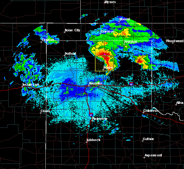 Radar Image for Severe Thunderstorms near Canadian, TX at 4/22/2020 3:54 AM CDT