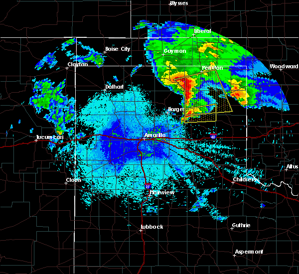 Radar Image for Severe Thunderstorms near Canadian, TX at 4/22/2020 4:17 AM CDT