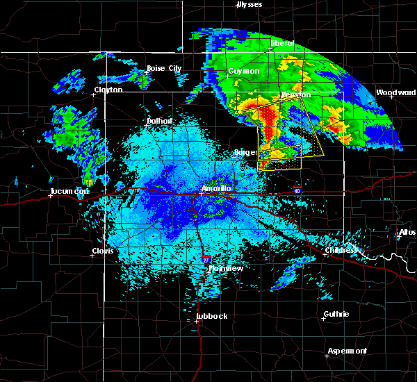 Radar Image for Severe Thunderstorms near Canadian, TX at 4/22/2020 4:25 AM CDT