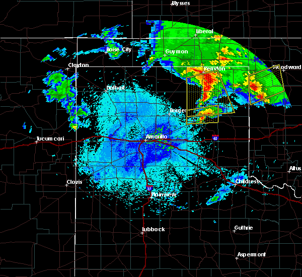 Radar Image for Severe Thunderstorms near Canadian, TX at 4/22/2020 4:43 AM CDT