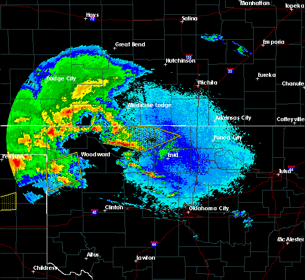 Radar Image for Severe Thunderstorms near Medford, OK at 4/22/2020 4:56 AM CDT