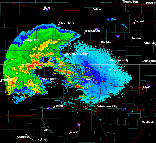 Radar Image for Severe Thunderstorms near Fairmont, OK at 4/22/2020 5:06 AM CDT