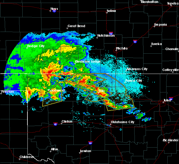 Radar Image for Severe Thunderstorms near Billings, OK at 4/22/2020 5:44 AM CDT