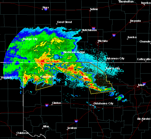 Radar Image for Severe Thunderstorms near Medford, OK at 4/22/2020 5:53 AM CDT