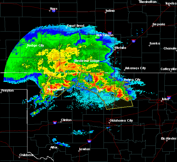 Radar Image for Severe Thunderstorms near Morrison, OK at 4/22/2020 6:26 AM CDT