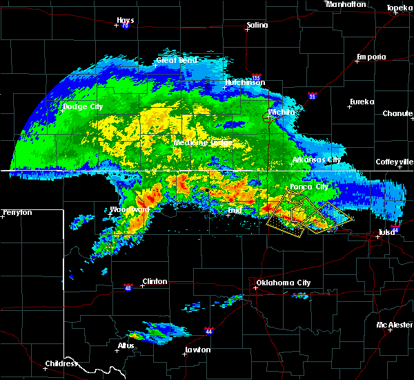 Radar Image for Severe Thunderstorms near Morrison, OK at 4/22/2020 6:52 AM CDT