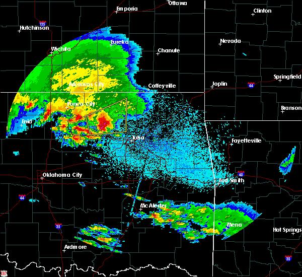 Radar Image for Severe Thunderstorms near Avant, OK at 4/22/2020 7:54 AM CDT