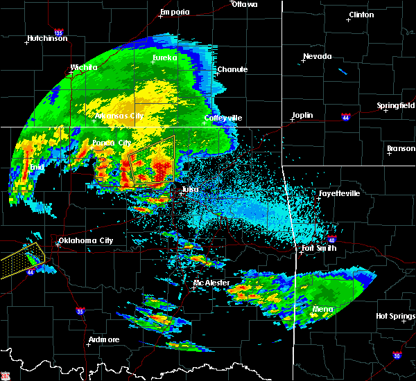 Radar Image for Severe Thunderstorms near Vera, OK at 4/22/2020 8:11 AM CDT