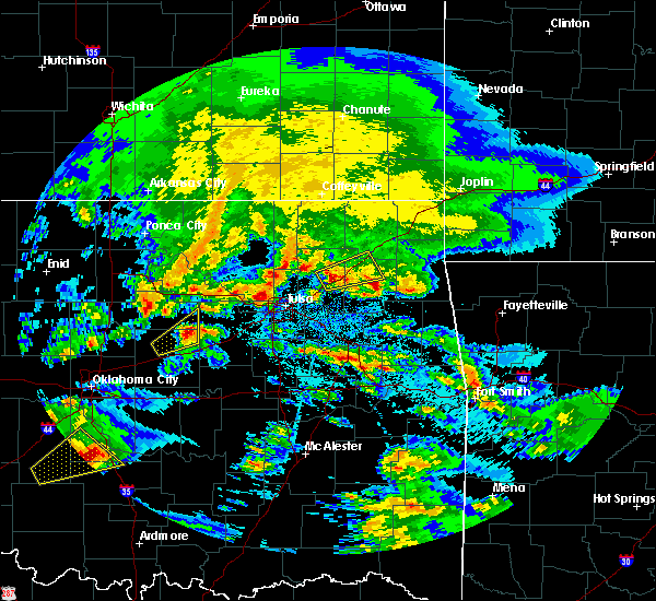 Radar Image for Severe Thunderstorms near Mannford, OK at 4/22/2020 9:38 AM CDT