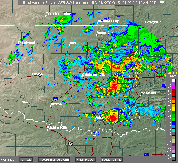 Radar Image for Severe Thunderstorms near Caney, OK at 4/22/2020 10:44 AM CDT