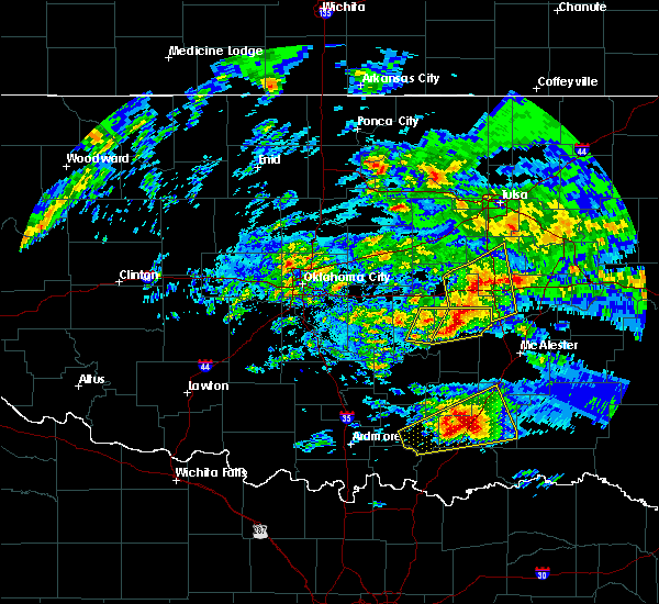 Radar Image for Severe Thunderstorms near Wetumka, OK at 4/22/2020 11:11 AM CDT