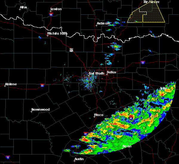 Radar Image for Severe Thunderstorms near Palestine, TX at 4/22/2020 11:50 AM CDT