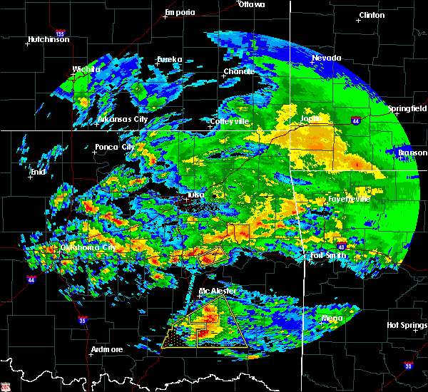 Radar Image for Severe Thunderstorms near Checotah, OK at 4/22/2020 11:53 AM CDT