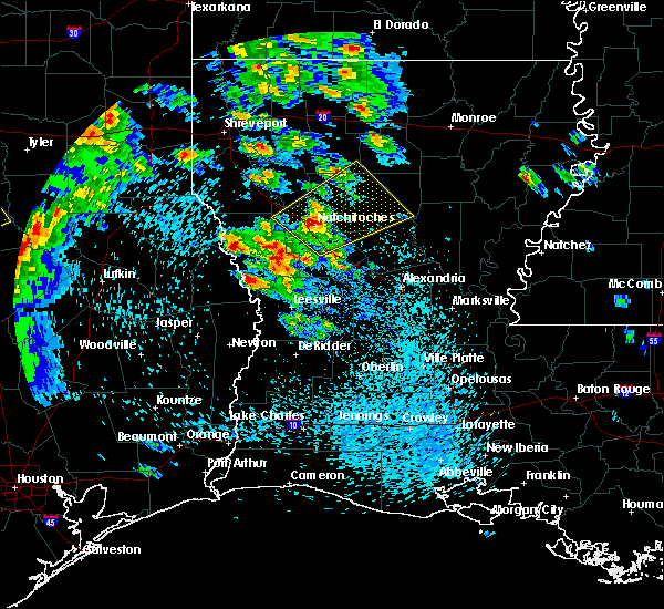 Radar Image for Severe Thunderstorms near Calvin, LA at 4/22/2020 12:04 PM CDT