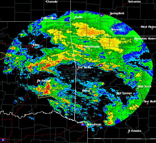 Radar Image for Severe Thunderstorms near Whitesboro, OK at 4/22/2020 12:16 PM CDT
