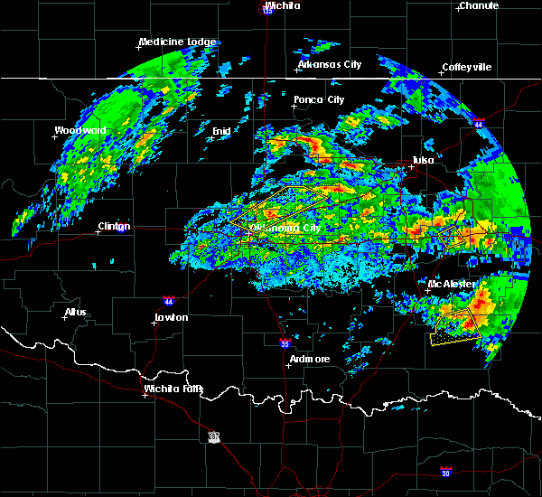 Radar Image for Severe Thunderstorms near Arcadia, OK at 4/22/2020 12:19 PM CDT