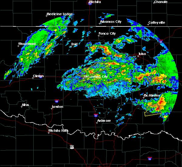 Radar Image for Severe Thunderstorms near Edmond, OK at 4/22/2020 12:19 PM CDT