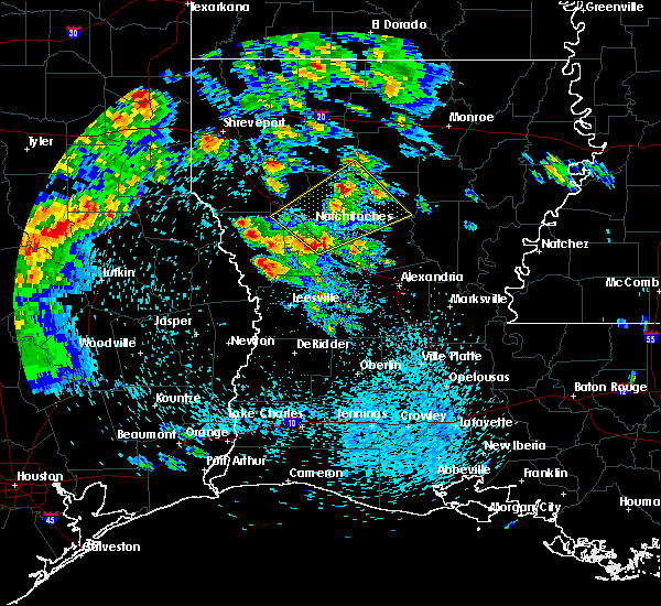 Radar Image for Severe Thunderstorms near Calvin, LA at 4/22/2020 12:21 PM CDT