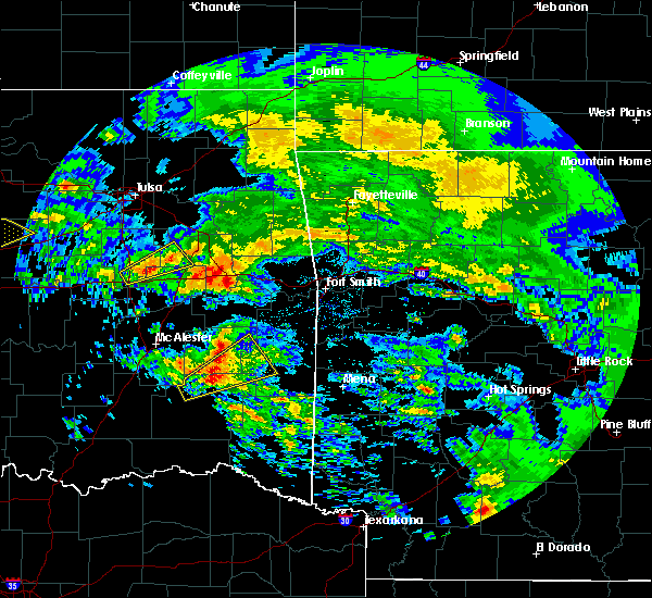 Radar Image for Severe Thunderstorms near Whitesboro, OK at 4/22/2020 12:26 PM CDT