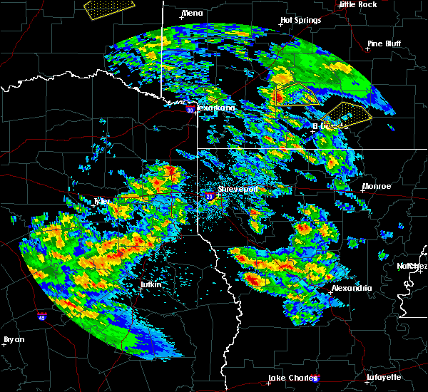 Radar Image for Severe Thunderstorms near Plain Dealing, LA at 4/22/2020 12:39 PM CDT