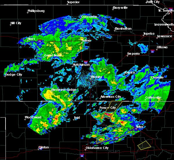 Radar Image for Severe Thunderstorms near Burbank, OK at 4/22/2020 12:45 PM CDT