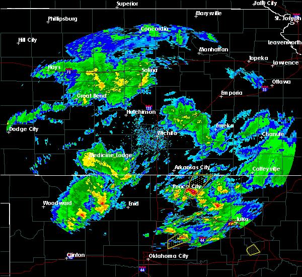 Radar Image for Severe Thunderstorms near Burbank, OK at 4/22/2020 12:52 PM CDT