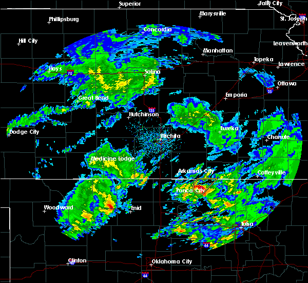 Radar Image for Severe Thunderstorms near Shidler, OK at 4/22/2020 12:56 PM CDT