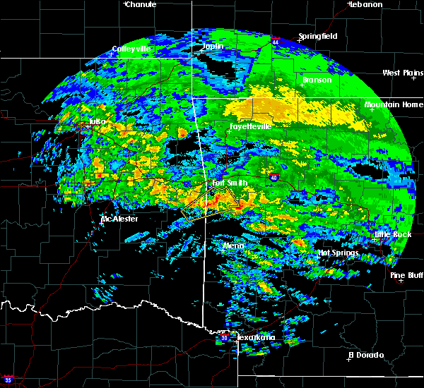 Radar Image for Severe Thunderstorms near Rock Island, OK at 4/22/2020 1:43 PM CDT