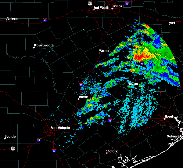 Radar Image for Severe Thunderstorms near Teague, TX at 4/22/2020 1:58 PM CDT