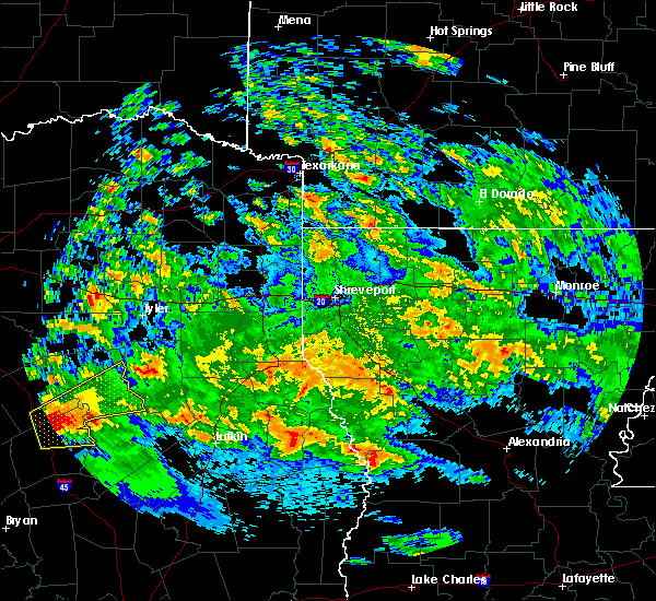 Radar Image for Severe Thunderstorms near Palestine, TX at 4/22/2020 2:11 PM CDT