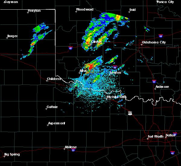 Radar Image for Severe Thunderstorms near Snyder, OK at 4/22/2020 2:12 PM CDT