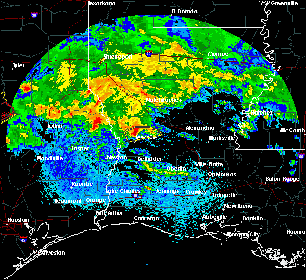 Radar Image for Severe Thunderstorms near Fisher, LA at 4/22/2020 2:34 PM CDT