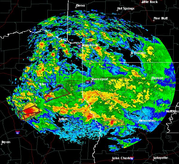 Radar Image for Severe Thunderstorms near Elkhart, TX at 4/22/2020 2:38 PM CDT