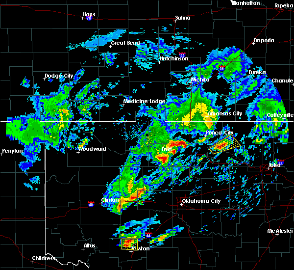 Radar Image for Severe Thunderstorms near Ponca City, OK at 4/22/2020 2:56 PM CDT