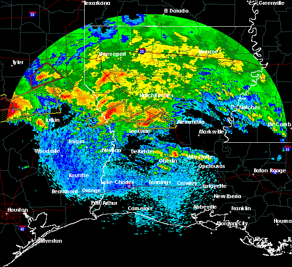Radar Image for Severe Thunderstorms near Fisher, LA at 4/22/2020 2:59 PM CDT