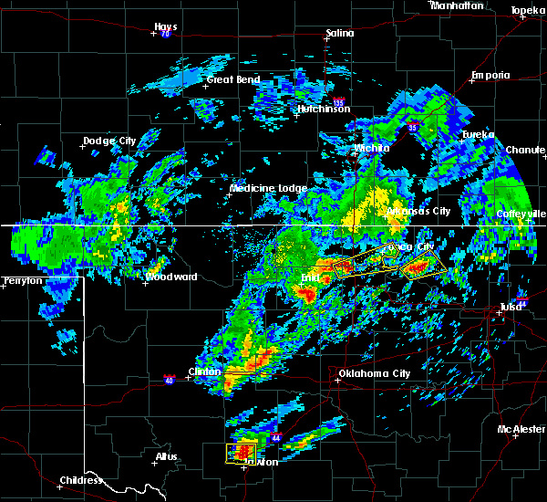 Radar Image for Severe Thunderstorms near Tonkawa, OK at 4/22/2020 3:03 PM CDT