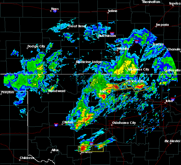 Radar Image for Severe Thunderstorms near Ponca City, OK at 4/22/2020 3:13 PM CDT