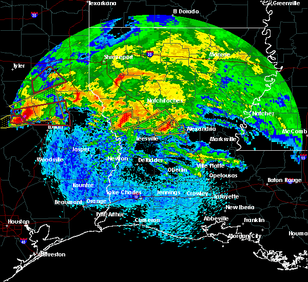 Radar Image for Severe Thunderstorms near Fisher, LA at 4/22/2020 3:16 PM CDT
