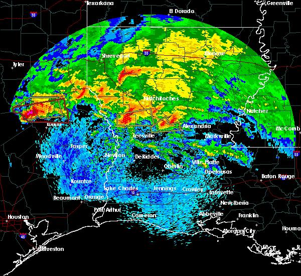 Radar Image for Severe Thunderstorms near Boyce, LA at 4/22/2020 3:26 PM CDT