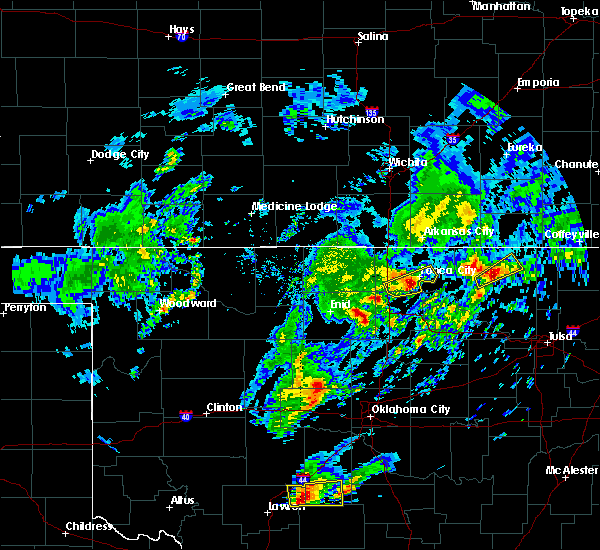 Radar Image for Severe Thunderstorms near Ponca City, OK at 4/22/2020 3:30 PM CDT