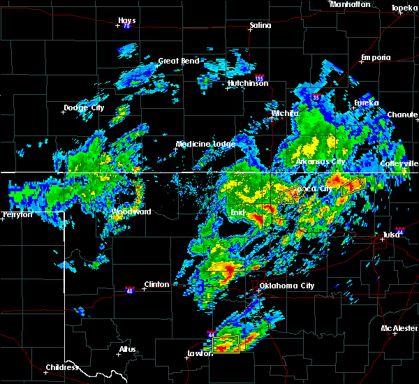 Radar Image for Severe Thunderstorms near Ponca City, OK at 4/22/2020 3:39 PM CDT