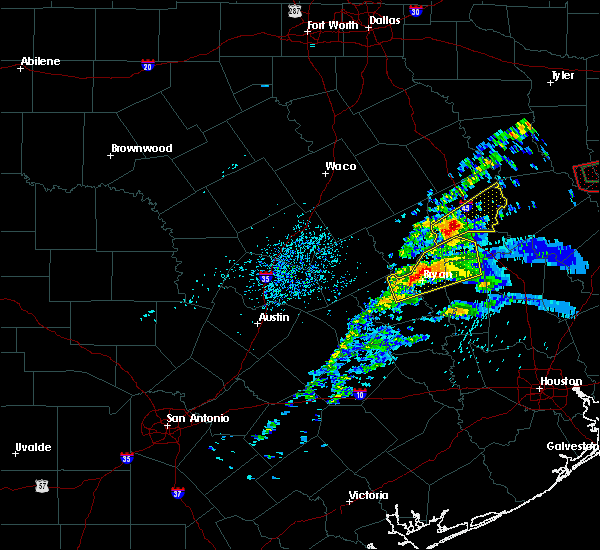 Radar Image for Severe Thunderstorms near Normangee, TX at 4/22/2020 3:46 PM CDT