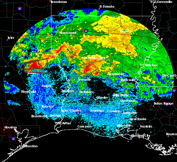 Radar Image for Severe Thunderstorms near Prospect, LA at 4/22/2020 3:58 PM CDT