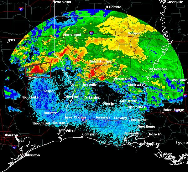 Radar Image for Severe Thunderstorms near Boyce, LA at 4/22/2020 4:01 PM CDT