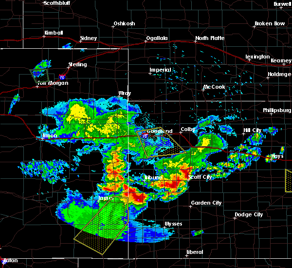 Radar Image for Severe Thunderstorms near Horace, KS at 6/26/2015 12:14 AM MDT