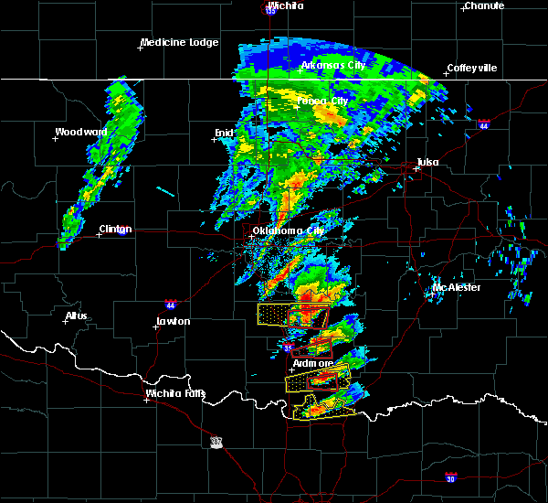 Radar Image for Severe Thunderstorms near Roff, OK at 4/22/2020 4:52 PM CDT