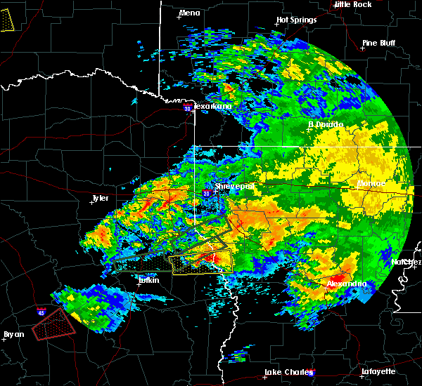 Radar Image for Severe Thunderstorms near Milam, TX at 4/22/2020 4:57 PM CDT