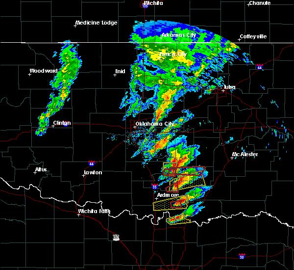 Radar Image for Severe Thunderstorms near Bromide, OK at 4/22/2020 5:02 PM CDT